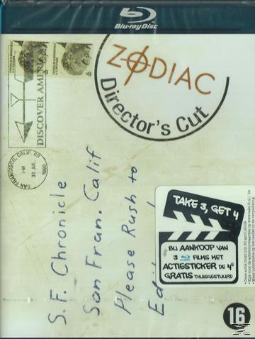 BR ZODIAC DIR CUT (BLU RAY DVD)