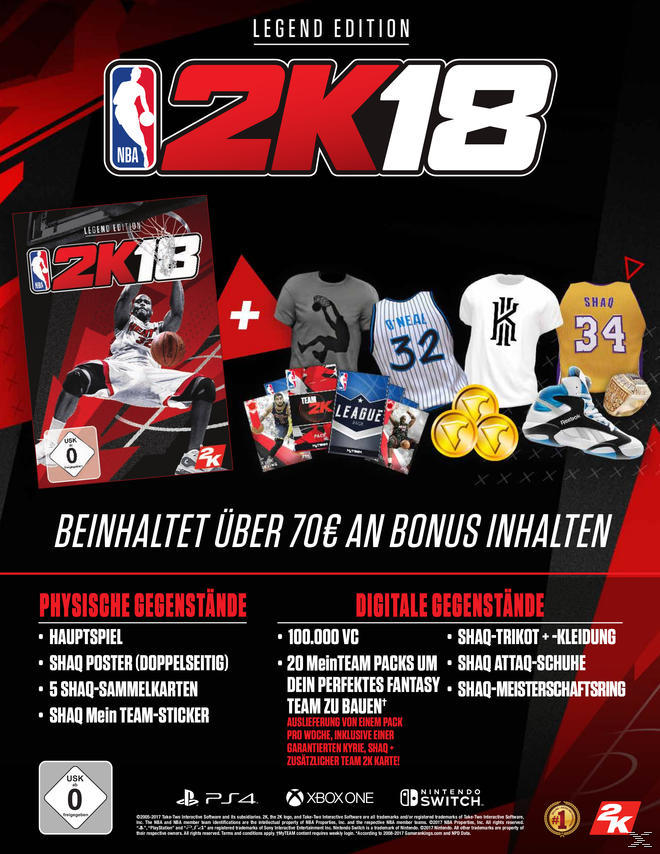NBA 2K18 - Legend Edition - Nintendo Switch