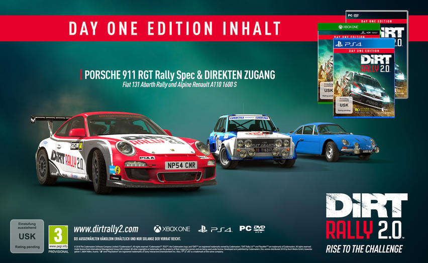 DiRT Rally 2.0 Day One Edition für Xbox One