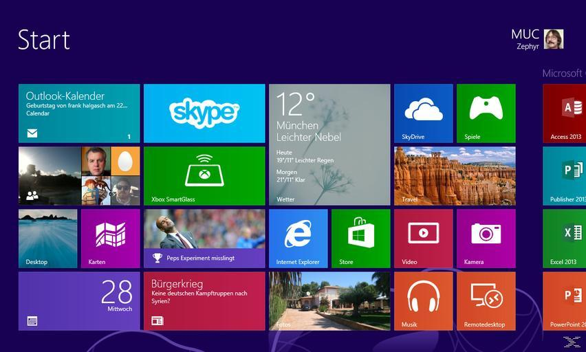 Microsoft Windows 8.1 Vollversion 32/64