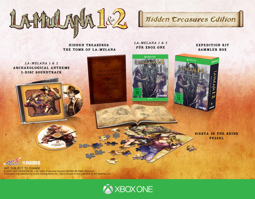 LA-MULANA 1 & 2: Hidden Treasures Edition für Xbox One
