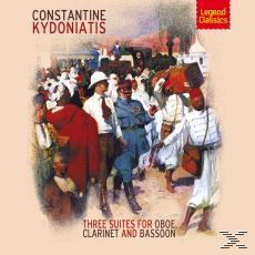 Kydoniatis : 3 Suites For Oboe, Clarinet & Bassoon