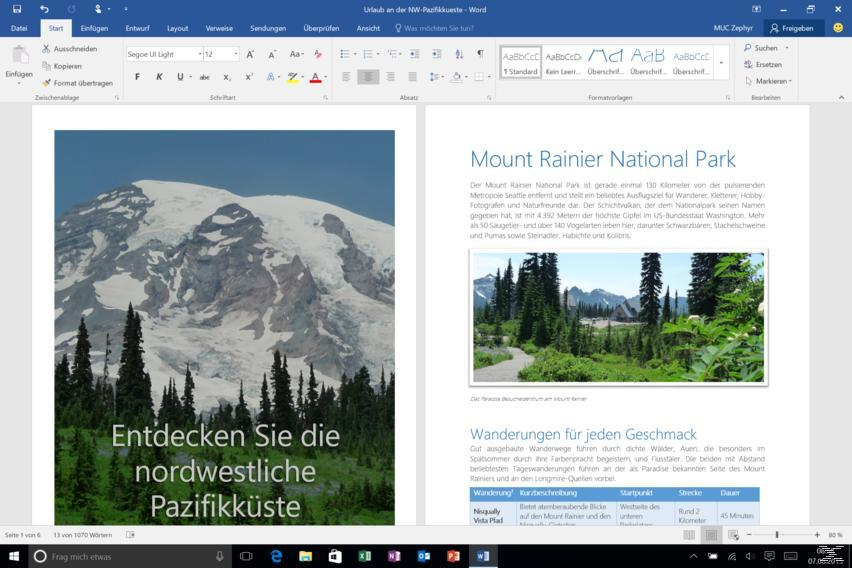 Office 365 Personal PC, Mobile, MAC 1 User (Product Key Card ohne Datenträger)