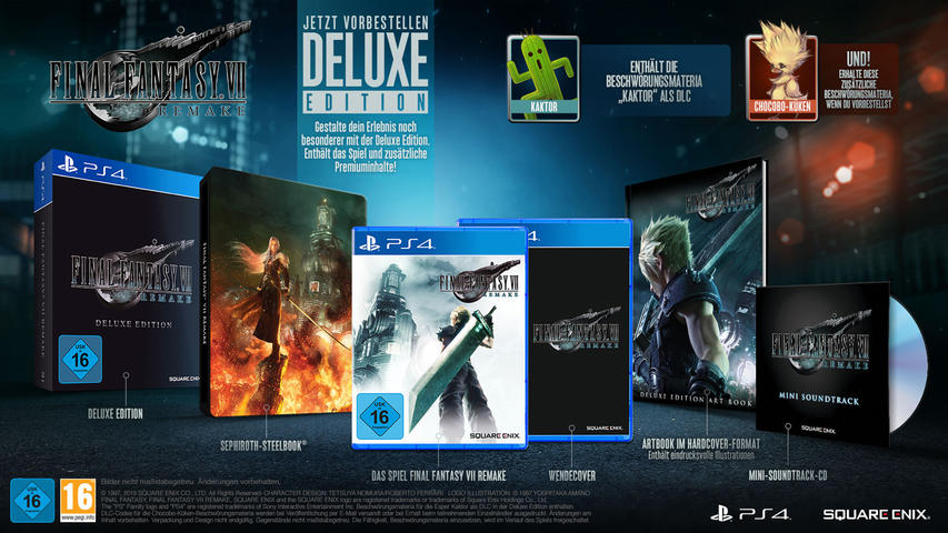 Final Fantasy VII - HD Remake (Deluxe Edition) - PlayStation 4