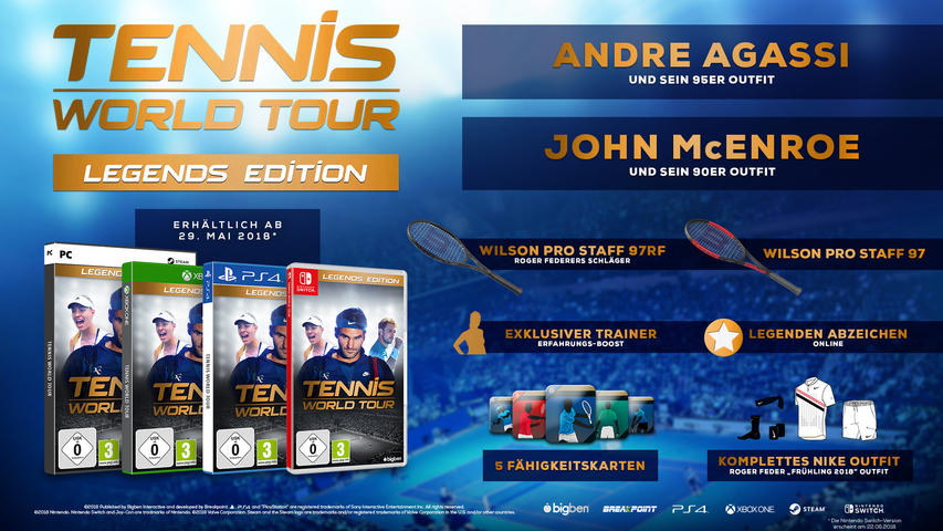 Tennis World Tour (Legends Edition) - PlayStation 4