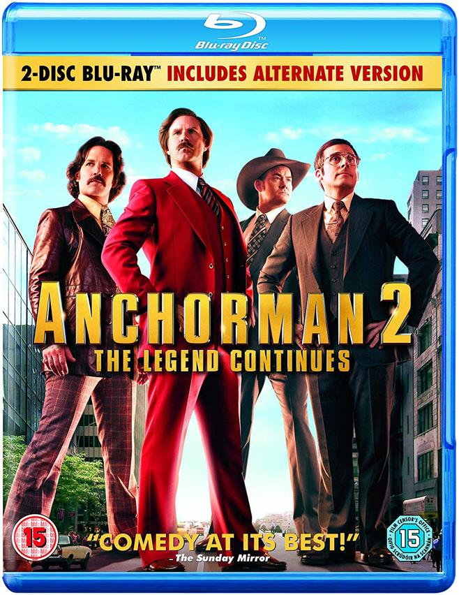 ANCHORMAN THE LEGEND CONTINUES (2BLURAY)